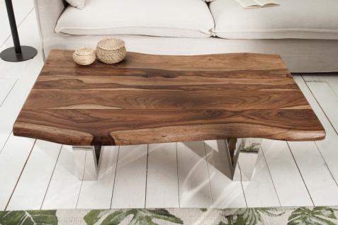 Casa Padrino Designer Massivholz Sheesham Couchtisch Natur Braun 110 x H. 40 cm - Salon Wohnzimmer Tisch - Vorschau 3