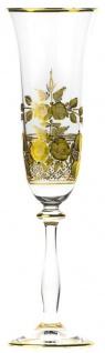 Casa Padrino Luxus Barock Champagnerglas Gold Ø 7 x H. 24, 5 cm - Handgefertigtes und handgraviertes Champagnerglas - Hotel & Restaurant Accessoires - Luxus Qualität