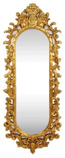 Casa Padrino Barock Wandspiegel Gold 55 x H. 125 cm - Handgefertigter Garderoben Spiegel - Edel & Prunkvoll - Vorschau