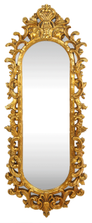 Casa Padrino Barock Wandspiegel Gold 55 x H. 125 cm - Handgefertigter Garderoben Spiegel - Edel & Prunkvoll