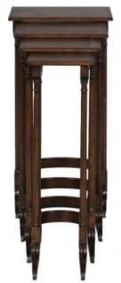 Casa Padrino Luxus Beistelltisch Braun / Dunkelbraun 37 x 34 x H. 73 cm - Ausziehbarer Mahagoni Tisch - Vorschau 3
