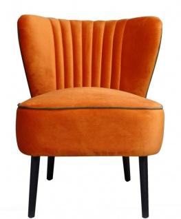 Casa Padrino Luxus Wohnzimmer Sessel Orange 61 x 70 x H. 73 cm - Designer Möbel