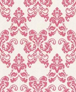 Casa Padrino Barock Textiltapete Weiß / Rot 10, 05 x 0, 53 m - Deko Accessoires im Barockstil