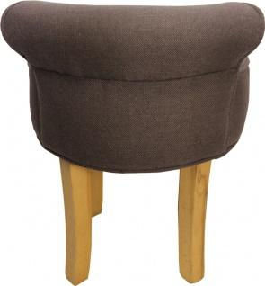Casa Padrino Designer Hocker Boston Mittelbraun - Barock Schminktisch Stuhl - Vorschau 3