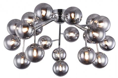 Casa Padrino Wohnzimmer Deckenleuchte Silber Ø 75 x H. 25 cm - Deckenlampe mit kugelförmigen Lampenschirmen - Vorschau 2