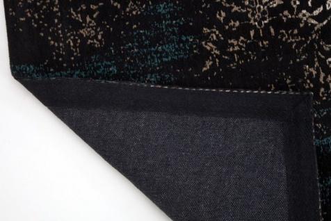 Casa Padrino Wohnzimmer Teppich Vintage Blau / Mehrfarbig 160 x 240 cm - Rechteckiger Baumwoll Teppich - Wohnzimmer Deko Accessoires - Vorschau 3