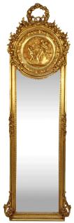 Casa Padrino Barock Spiegel Gold 55 x H. 175 cm - Massiv und Schwer - Antik Stil Wandspiegel