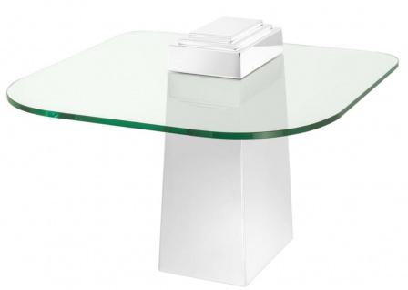 Casa Padrino Luxus Beistelltisch Silber 65 x 65 x H. 51 cm - Luxus Qualität