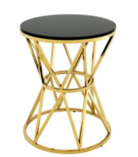 Casa Padrino Luxus Art Deco Designer Beistelltisch Gold 44 x H. 55 cm - Hotel Tisch Möbel