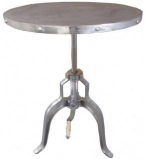 Casa Padrino Industrial Beistelltisch mit Kurbel Silber - Designer Hotel Möbel - Industry Design - Jugendstil Tisch