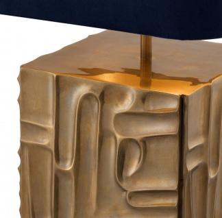 Casa Padrino Luxus Tischleuchte Vintage Messingfarben / Blau 35 x 35 x H. 62 cm - Designer Lampe - Vorschau 3