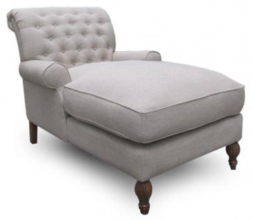 Casa Padrino Chesterfield Lounge Sessel Naturfarben 93 x 149 x H. 94 cm - Luxus Wohnzimmer Relax Sessel