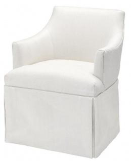 Casa Padrino Designer Sessel Weiß 63 x 63 x H. 81 cm - Luxus Kollektion