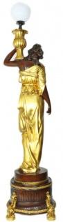 Casa Padrino Barock Luxus Stehlampen Weibliche Figuren Set Braun / Gold - Edel & Prunkvoll - Vorschau 2