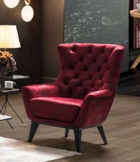 Casa Padrino Luxus Chesterfield Sessel Bordeauxrot / Schwarz 85 x 85 x H. 95 cm - Wohnzimmer Sessel - Chesterfield Wohnzimmer Möbel