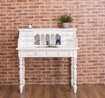 Casa Padrino Landhausstil Schreibtisch Weiß 109 x 60 x H. 110 cm - Büromöbel