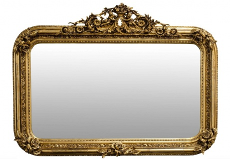 Casa Padrino Antik Stil Wandspiegel Gold 142 x H. 100 cm - Barock Möbel - Vorschau 1