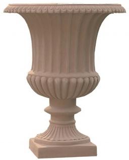 Casa Padrino Barock Blumenvase Terracotta Ø 36 x H. 46 cm - Handgefertigte Keramik Vase - Balkon Terrassen Garten Deko im Barockstil