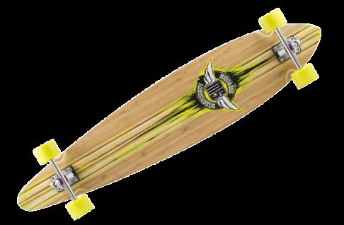 Mindless Voodoo Complete Longboard Maverick II Talisman Wood / Yellow - Pintail Profi Longboard 9.75 x 46.0 inch