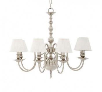 Casa Padrino Luxus Kronleuchter - Luxus Hängeleuchte Nickel Durchmesser 85 x H 75 cm