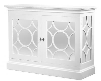 Casa Padrino Designer Mahagoni Schrank Weiß - Limited Edition