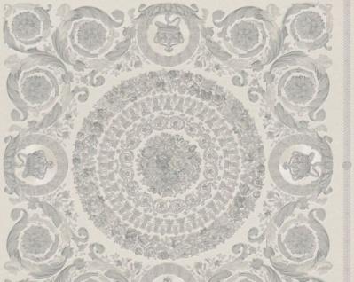 Versace Designer Barock Vliestapete IV 37055-5 - Grau / Silber - Design Tapete - Hochwertige Qualität