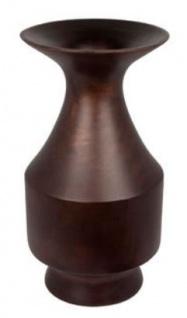 Casa Padrino Luxus Deko Mangoholz Vase Dunkelbraun Ø 21 x H. 38 cm - Wohnzimmer Dekoration - Vorschau 1
