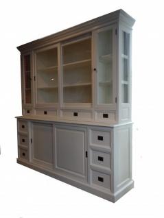 Großer Shabby Chic Landhaus Stil Schrank mit 4 Türen und 10 Schubladen von Casa Padrino Buffetschrank - Schrank Esszimmer