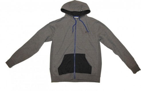 Fallen Skateboard Pullover Hoodie Zip Grey/Navy Sweater