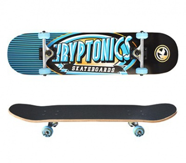 Kryptonics Skateboard Komplettboard Ray Gun Series Icy 7.5 x 31.0 inch - Special Edition mit Koston Kugellagern