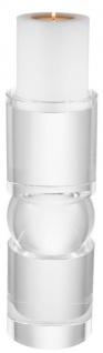 Casa Padrino Luxus Kristallglas Kerzenhalter 12, 5 x H. 36 cm - Luxus Qualität