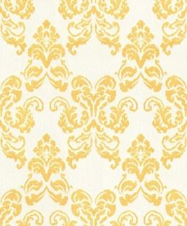 Casa Padrino Barock Textiltapete Weiß / Gold 10, 05 x 0, 53 m - Deko Accessoires im Barockstil