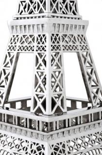 Casa Padrino Luxus Standleuchte Eiffelturm Silber - Massives vernickeltes Metall - Leuchte Lampe - Tischleuchte Tischlampe, Stehleuchte, Stehlampe - Vorschau 3