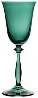 Casa Padrino Luxus Barock Weißweinglas 6er Set Grün Ø 8, 5 x H. 21 cm - Handgefertigte Weingläser - Hotel & Restaurant Accessoires - Luxus Qualität