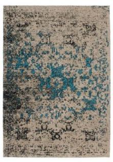 Casa Padrino Luxus Teppich Beige / Blau - Verschiedene Größen - Wohnzimmer Teppich