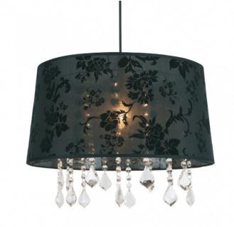 Barock Design Hängeleuchte, Pendelleuchte mit Kristall-Deco SM3415M Schwarz Lampe Leuchte