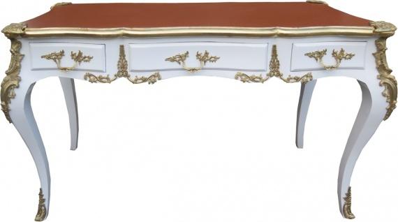 Casa Padrino Luxus Barock Schreibtisch Weiss / Gold / Apricot - Sekretär Luxus Möbel - Limited Edition - Vorschau 1
