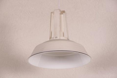 Casa Padrino Vintage Industrie Hängeleuchte Antik Stil Creme Metall Durchmesser 34cm - Restaurant - Hotel Lampe Leuchte - Industrial Leuchte