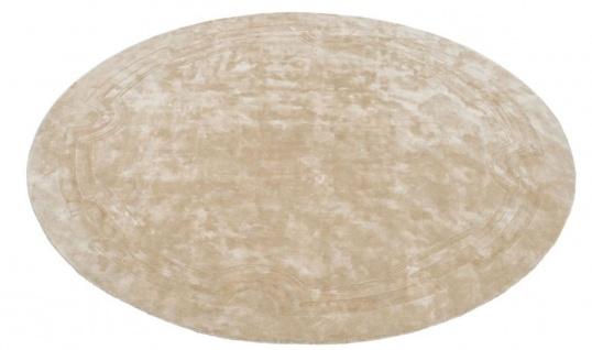 Casa Padrino Luxus Designer Teppich Beige Durchmesser 280 cm - Limited Edition