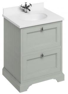 Casa Padrino Waschschrank / Waschtisch mit Marmorplatte und 2 Schubladen 67 x 55 x H.93 cm - Vorschau 3