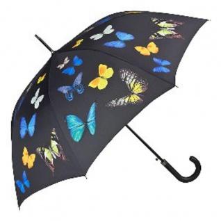 Designer Regenschirm Motivschirm mit Schmetterlingstanz Schmetterlinge - Eleganter Stockschirm - Luxus Design - Automatikschirm