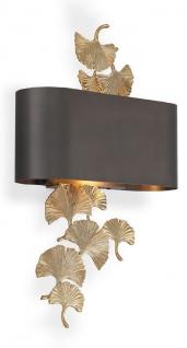Casa Padrino Designer Wandleuchte Gold / Bronzefarben 36 x 13, 5 x H. 61 cm - Hotel & Restaurant Wandlampe - Luxus Qualität