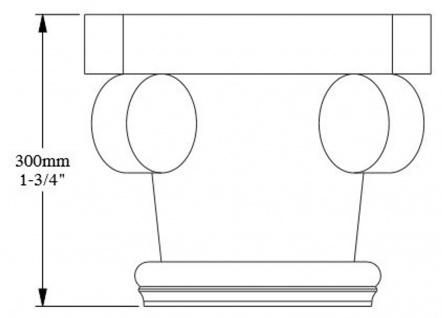 Casa Padrino Barock Zierelement Säulen Kopfteil Weiß 36 x 18 x H. 30 cm - Prunkvolle Wanddeko - Barock Deko - Vorschau 5