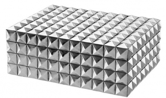 Casa Padrino Luxus Schmuckschatulle / Schmuckkasten mit Deckel Silber 28 x 21 x H. 10 cm - Luxus Qualität