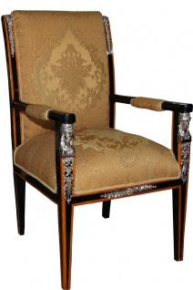 Casa Padrino Barock Luxus Empire Esszimmerstuhl mit Armlehnen 60 x 63 x H. 110 cm - Limited Edition