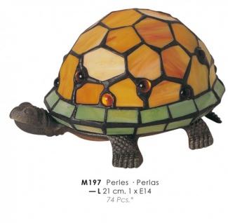 Tiffany Decoleuchte Durchmesser 21cm M197 Schildkröte Leuchte Lampe