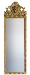 Casa Padrino Barock Spiegel Gold 58 x H. 180 cm - Prunkvoller Wandspiegel mit wunderschönen Verzierungen