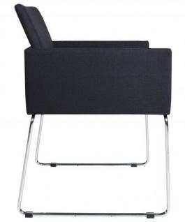 Casa Padrino Designer Stuhl mit Armlehnen Schwarz 55cm x 80cm x 60cm - Büromöbel - Vorschau 2