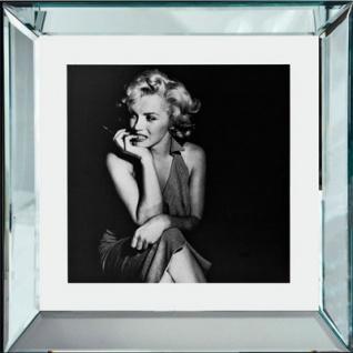 """Casa Padrino Designer Bild """" Bleib eine Weile"""" Marilyn Monroe 40 x 40 cm - Limited Edition"""