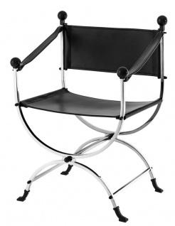 Casa Padrino Designer Stuhl mit Armlehnen 59 x 44 x H. 87 cm - Luxus Bürostuhl